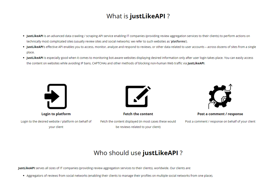 Description of justLikeAPI as a service