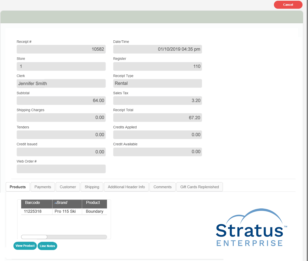 Rentals and repair module can be added onto Cumulus for retailers who handle work orders.