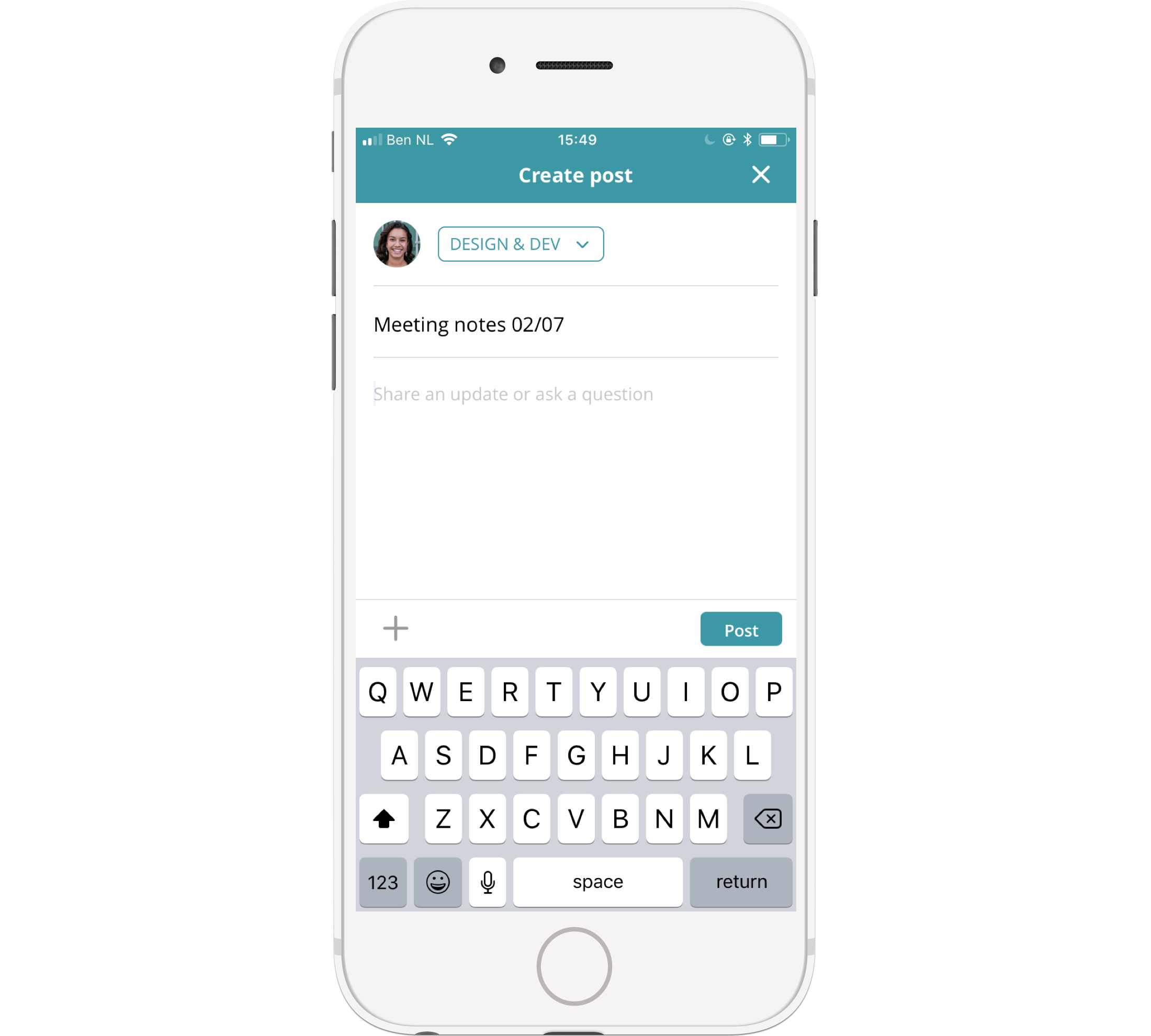 Publish a post straight from the timeline on your phone - it's super easy!