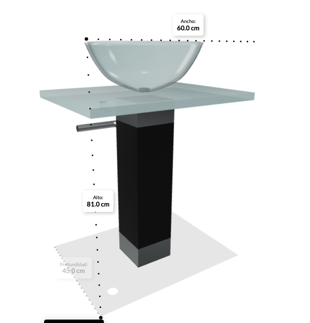 Display product dimensions