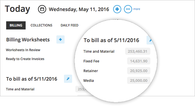 Get an overview of billing from the management dashboard