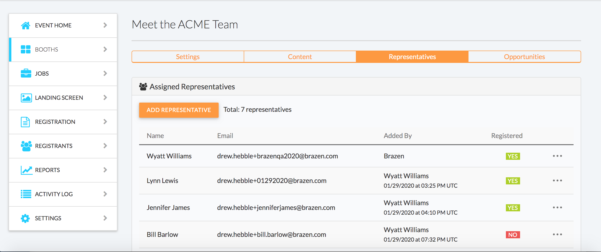 Brazen adding representatives