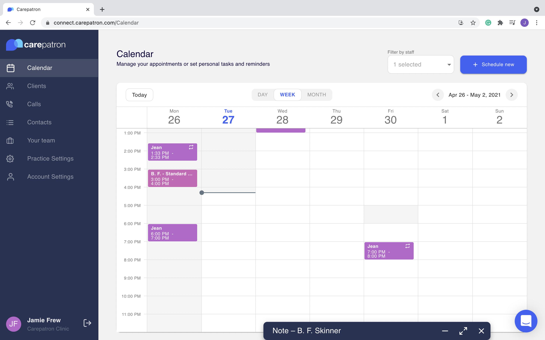 Calendar and task management
