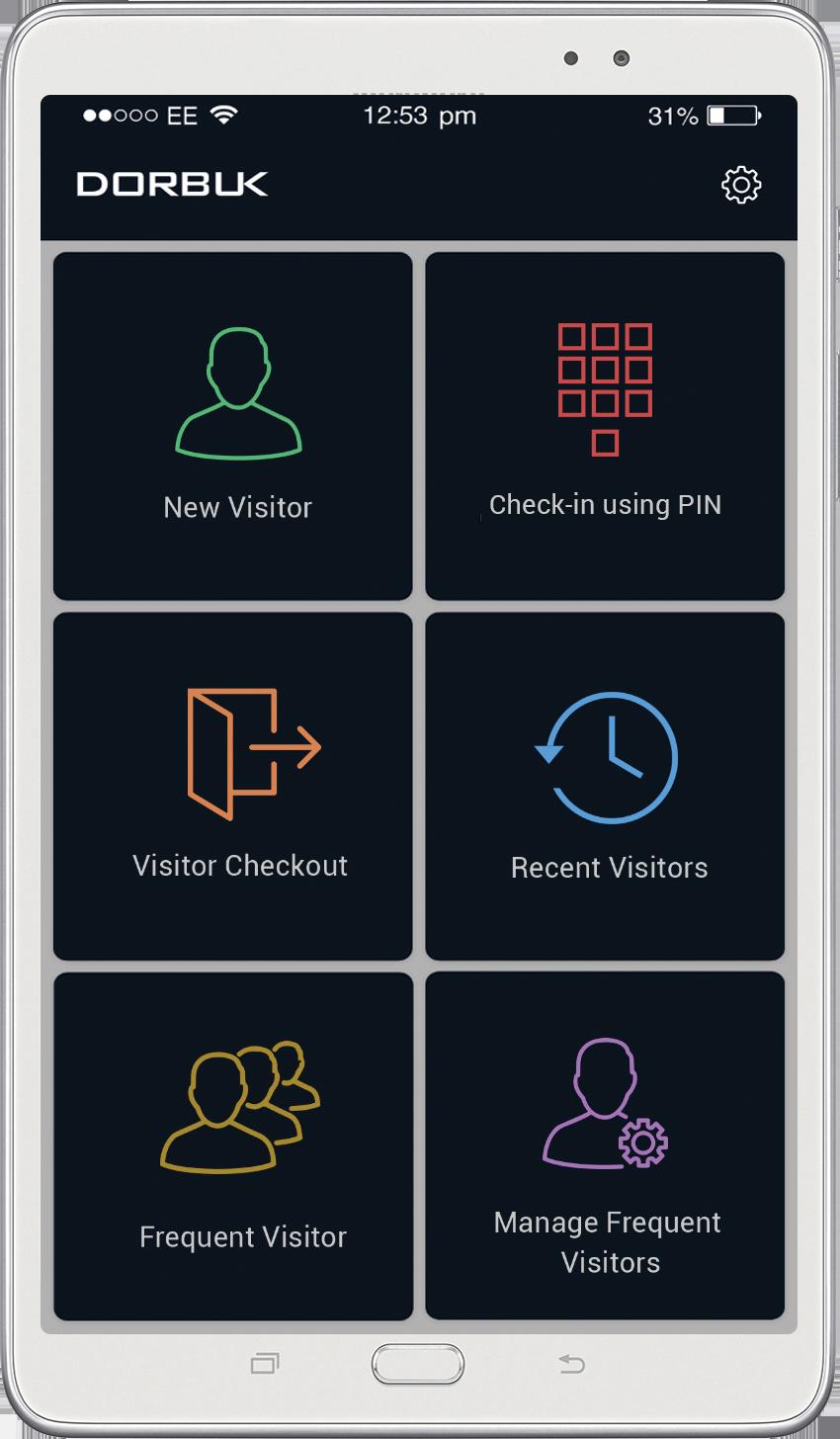 Dorbuk mobile interface screenshot