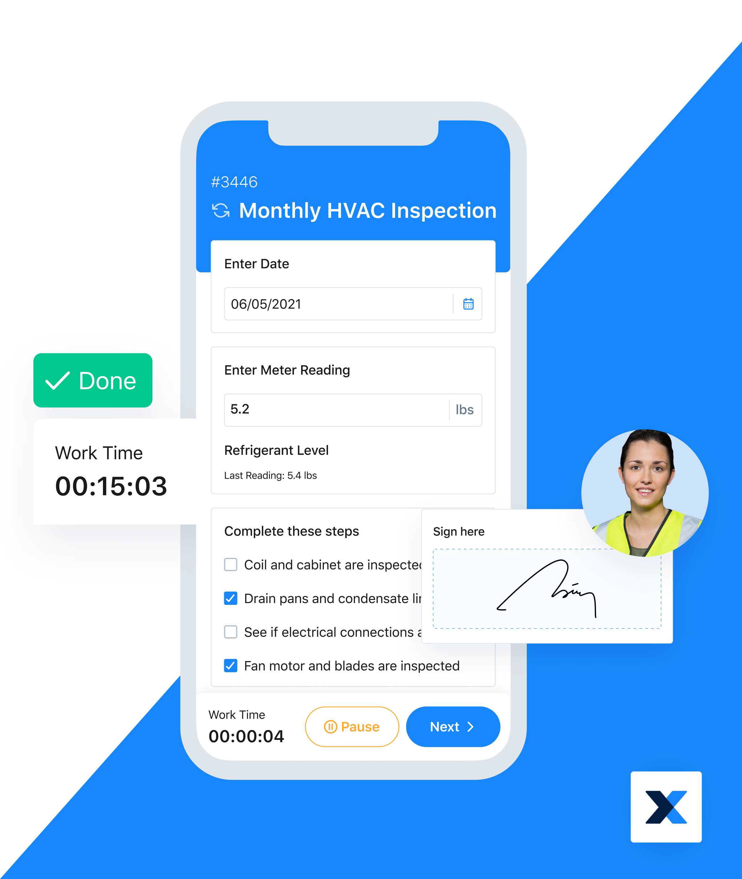 MaintainX Software - Manage inspections and track time with ease