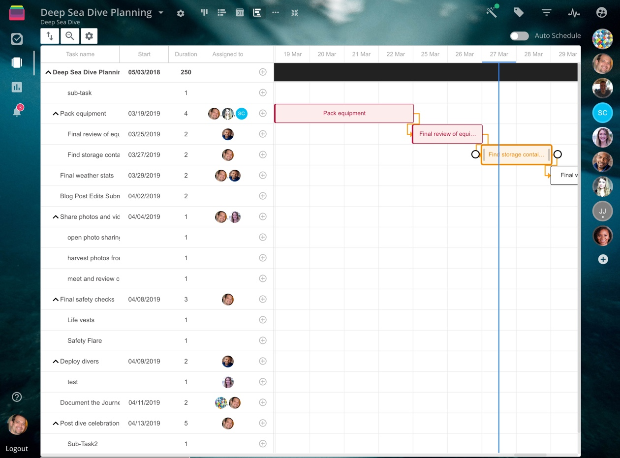 Rindle task planning screenshot