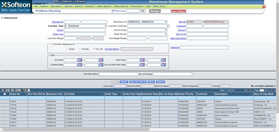 Softeon Warehouse Management System (WMS) Software - PreWave Planning