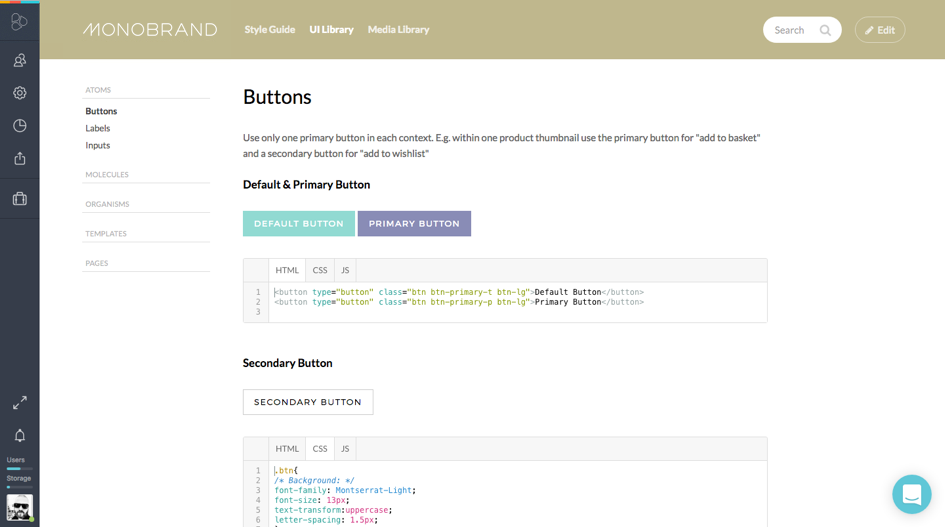 Pattern Library – Store and reuse your modular UI patterns