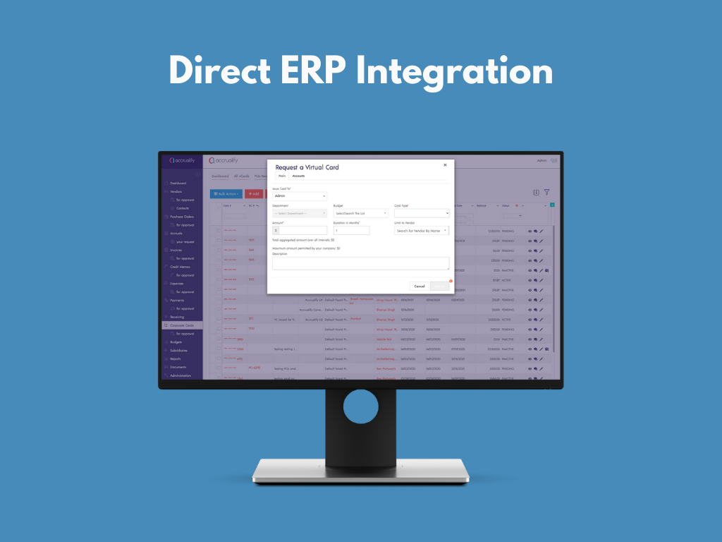 Accrualify Spend Management Platform Software - Our products directly sync with your ERP system for less data input and management.