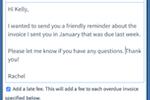 Sunrise Screenshot: Send invoice reminders