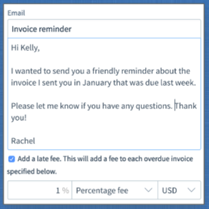Send invoice reminders