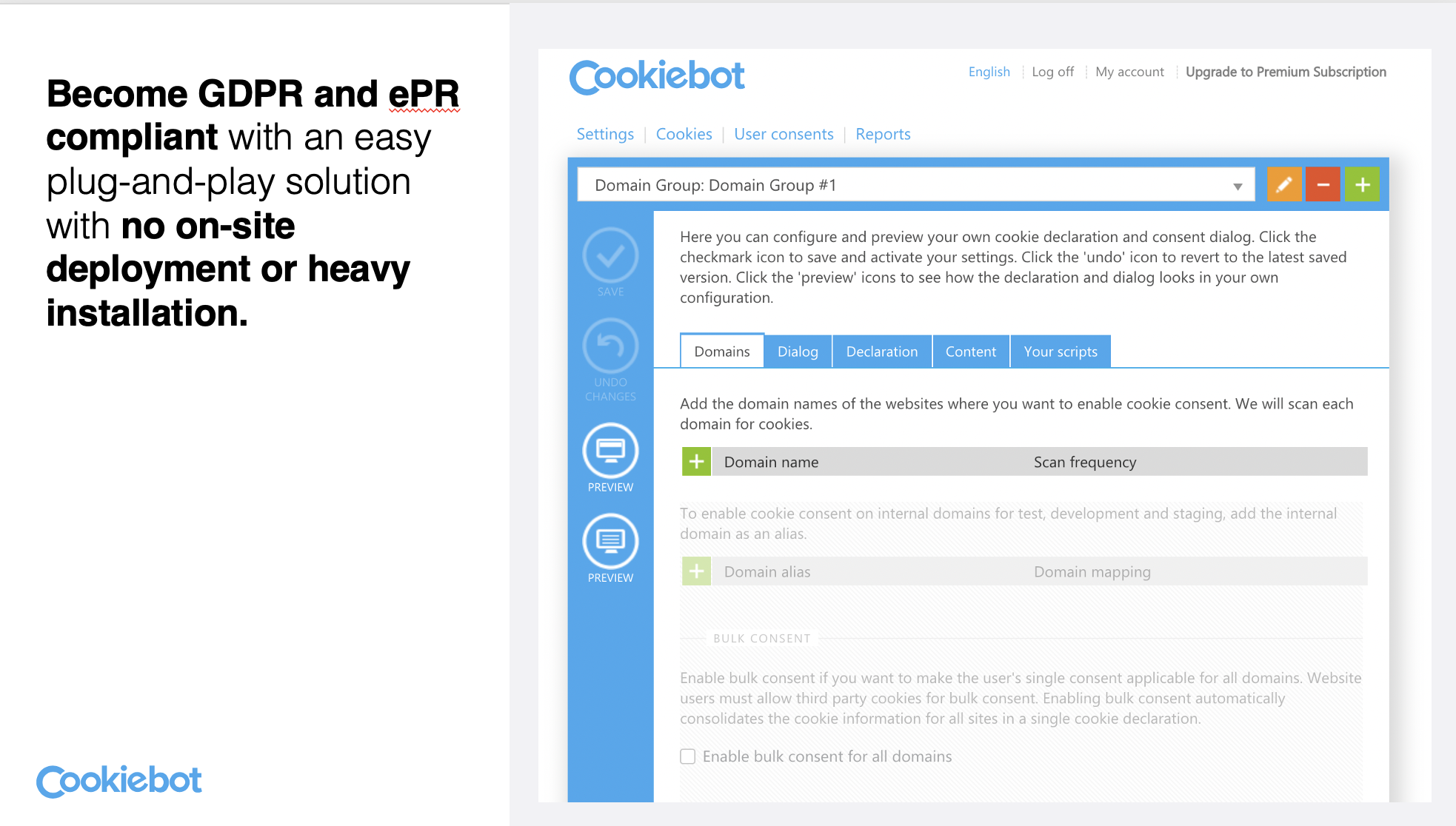 Cookiebot Privacy compliance