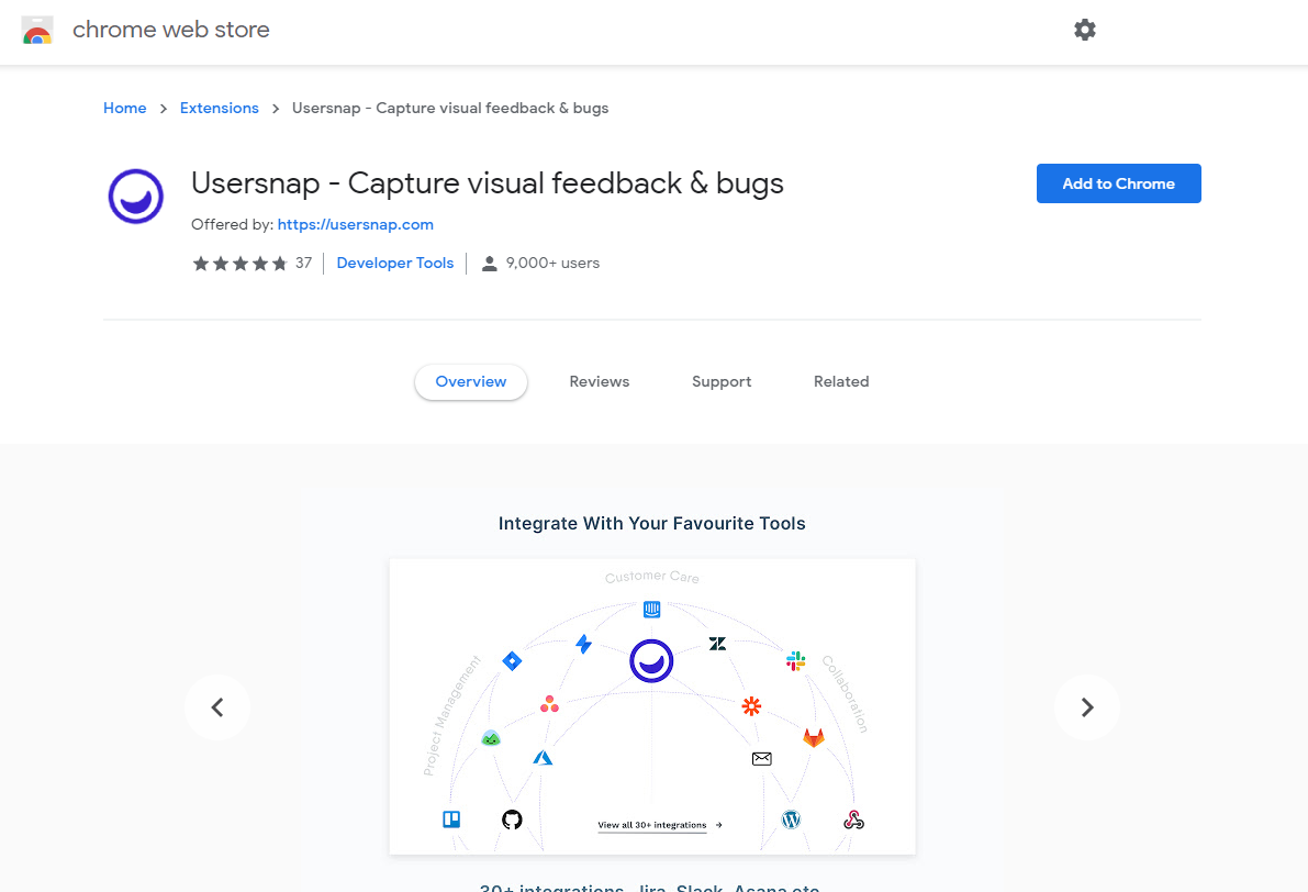 Collect feedback on your web projects via browser extensions