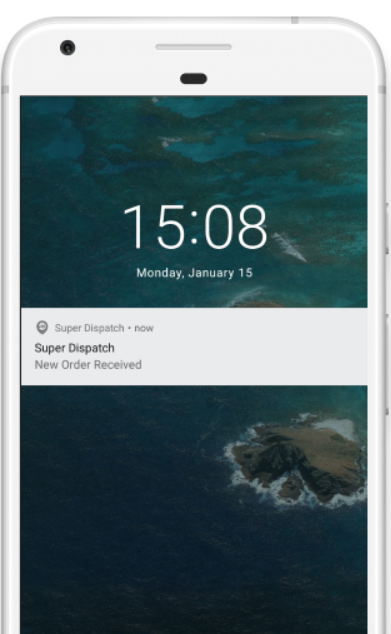 Super Dispatch push notifications