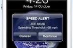 Geooco. Fleet Management screenshot: Receive automated alerts if drivers speed