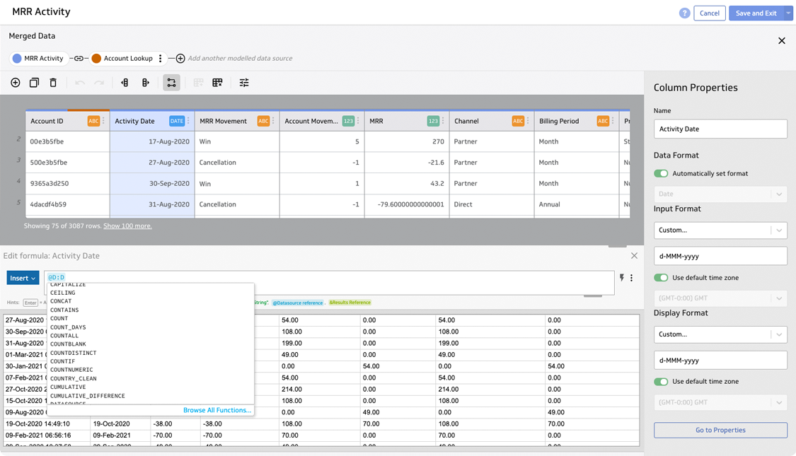 And if you need it ... PowerMetrics has advanced data modelling tools that allow you to join and prep your data