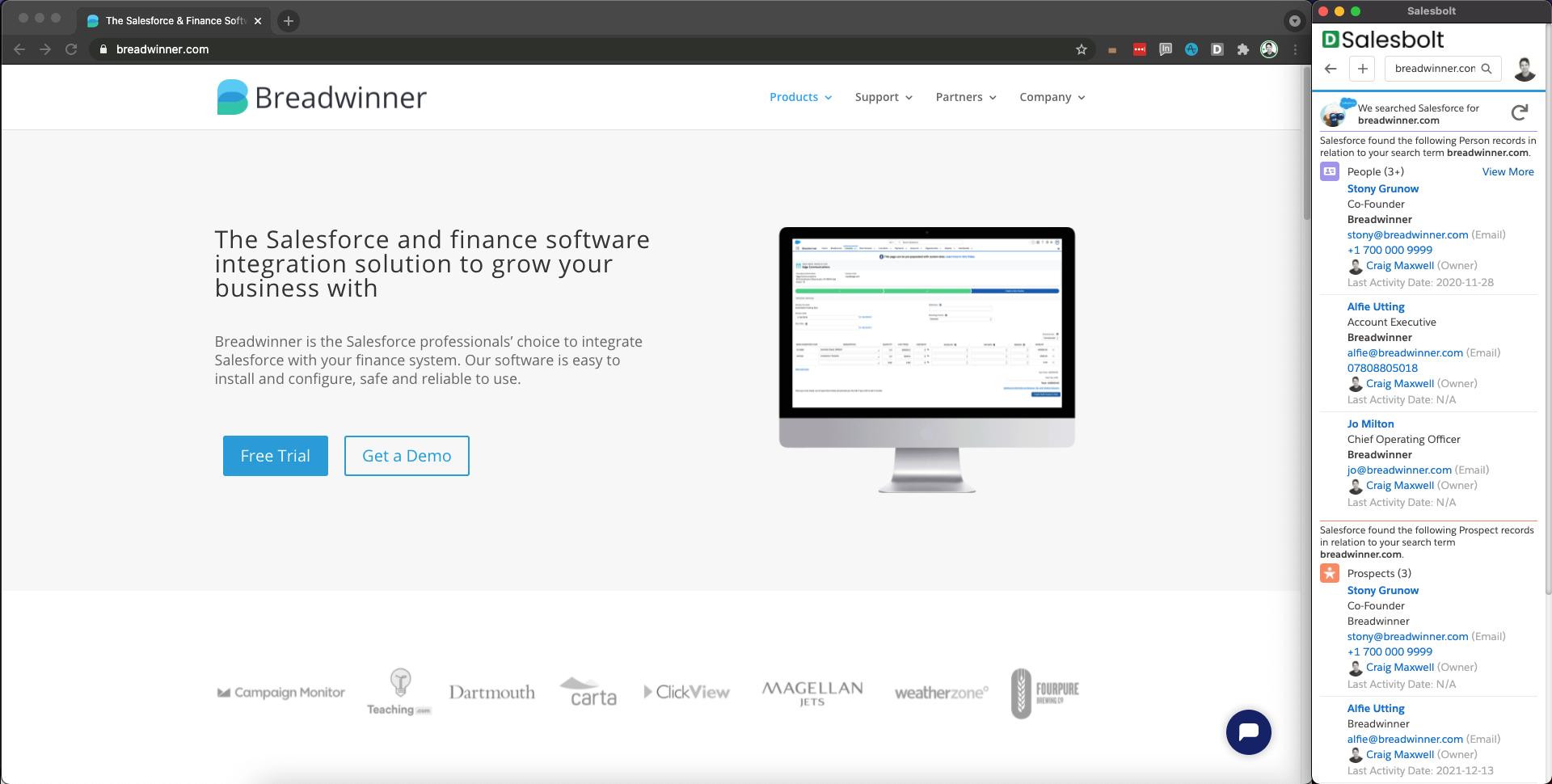 Salesbolt Software - Salesbolt for Salesforce