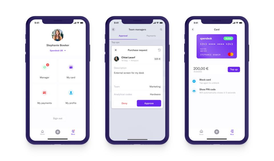 Spendesk mobile app
