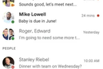 Captura de pantalla de Google Chat: Google Chat conversations overview