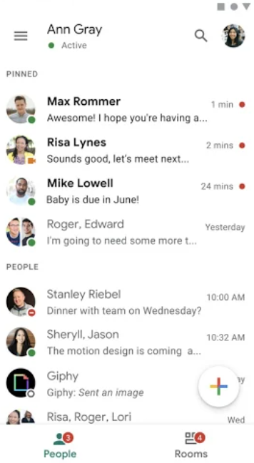 Google Chat conversations overview