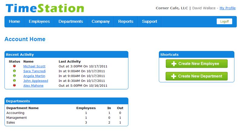TimeStation activity monitoring