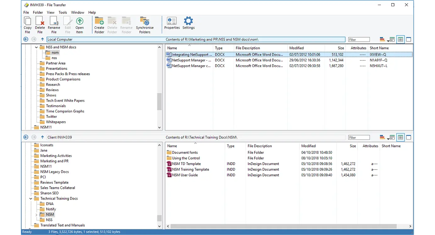 NetSupport Manager Software - NetSupport Manager File Transfer - A user can transfer files between their PC and a user's workstation using a simple drag and drop interface.