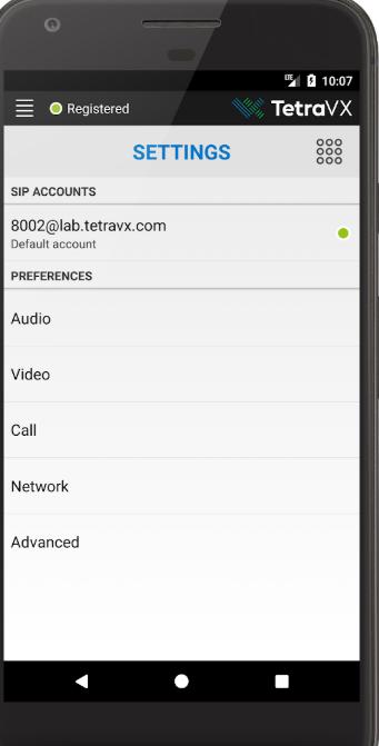 nVX settings screenshot