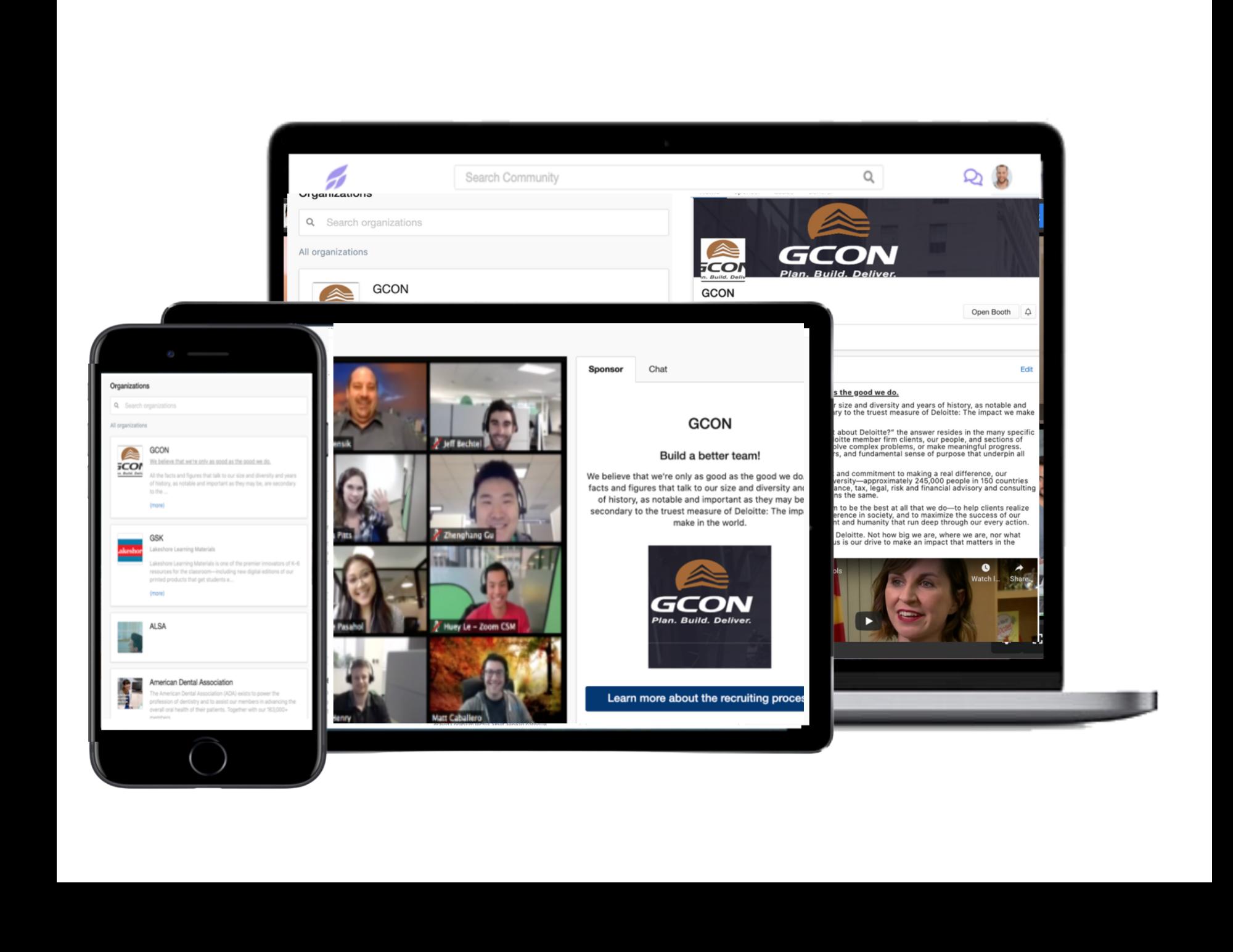 Sponsor benefits including dedicated sponsor pages and  platform promotion.
