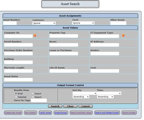 Customer Asset Definitions