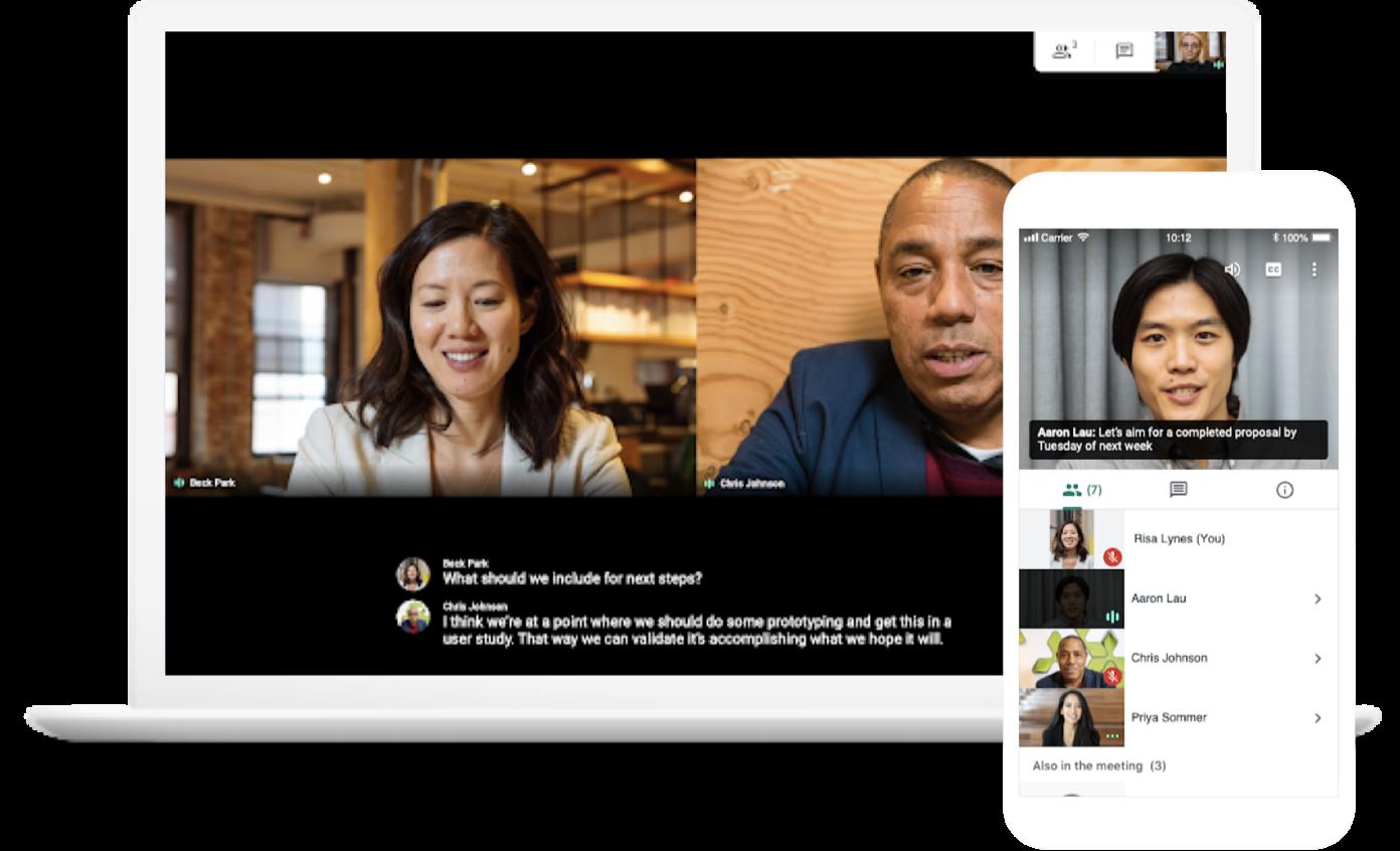Google Meet Cross-Device Video Conferencing