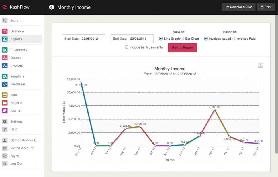 KashFlow Software - Reports