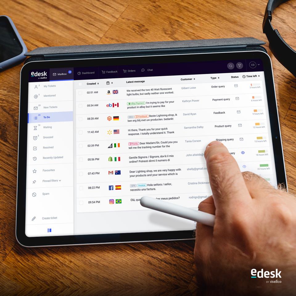 eDesk Software - eDesk's centralized inbox
