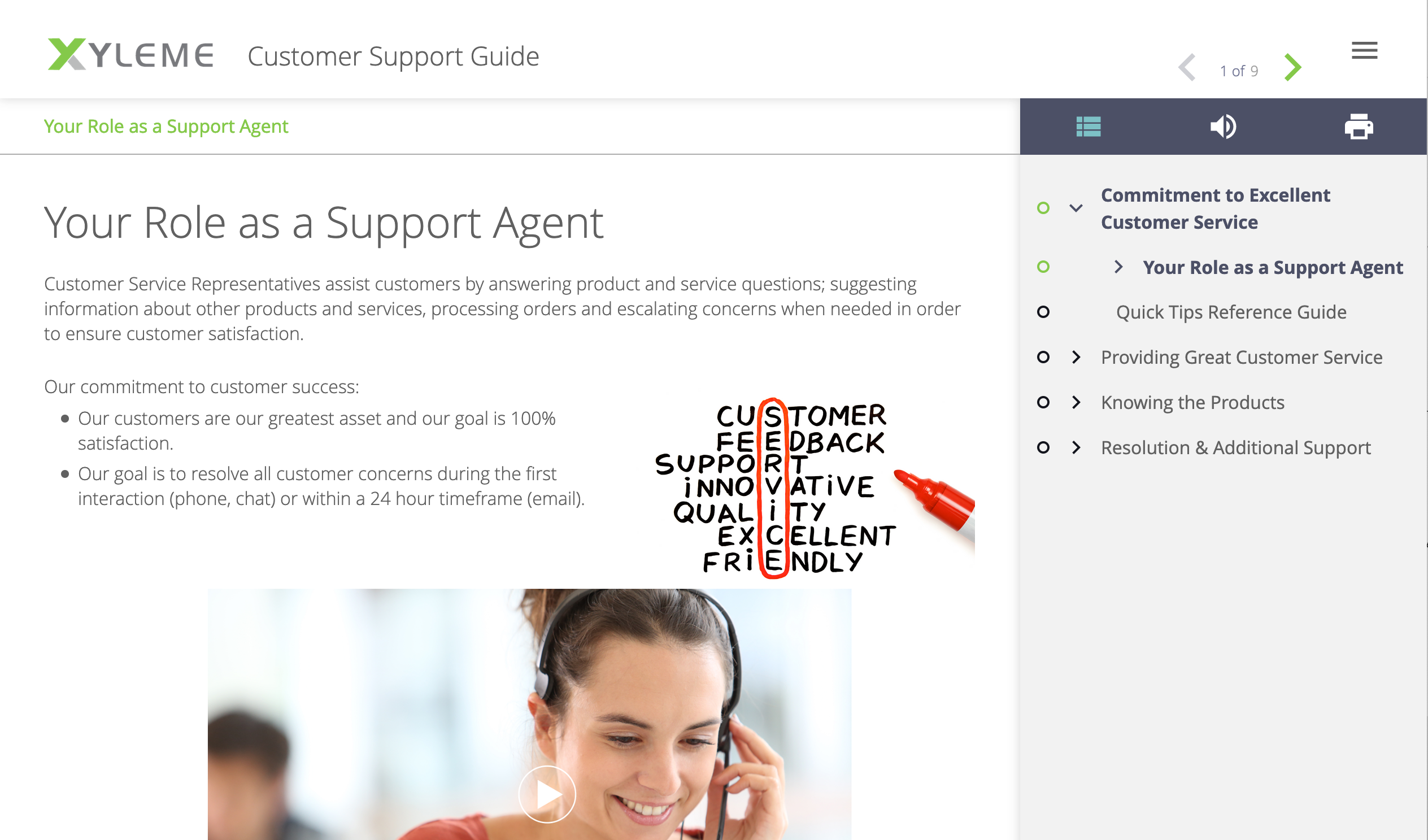 Xyleme customer support guide