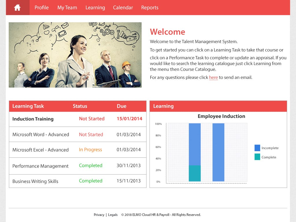 ELMO Software Software - Welcome screen