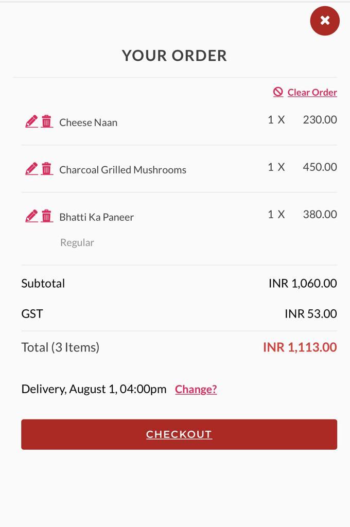 Grubly order details