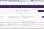 Farrago screenshot: Farrago analysis recommendations