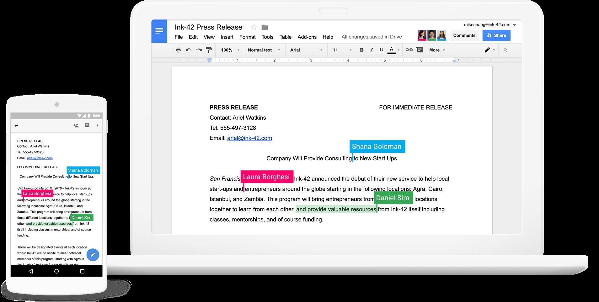 Google Docs Software - 2