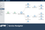 4me screenshot: The service navigator provides an easy to understand graphical depiction of the dependencies between services and the configuration items that make up these services.