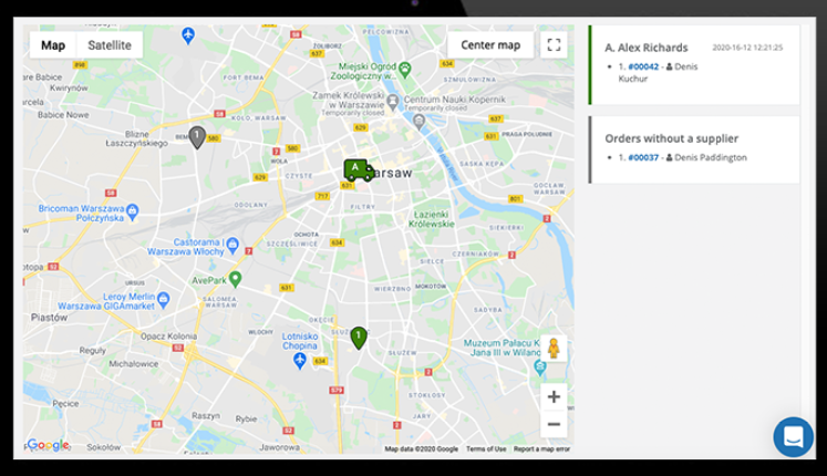 ord.to delivery tracking