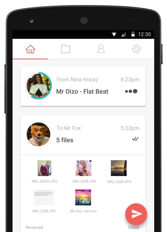 Send/receive photos and videos