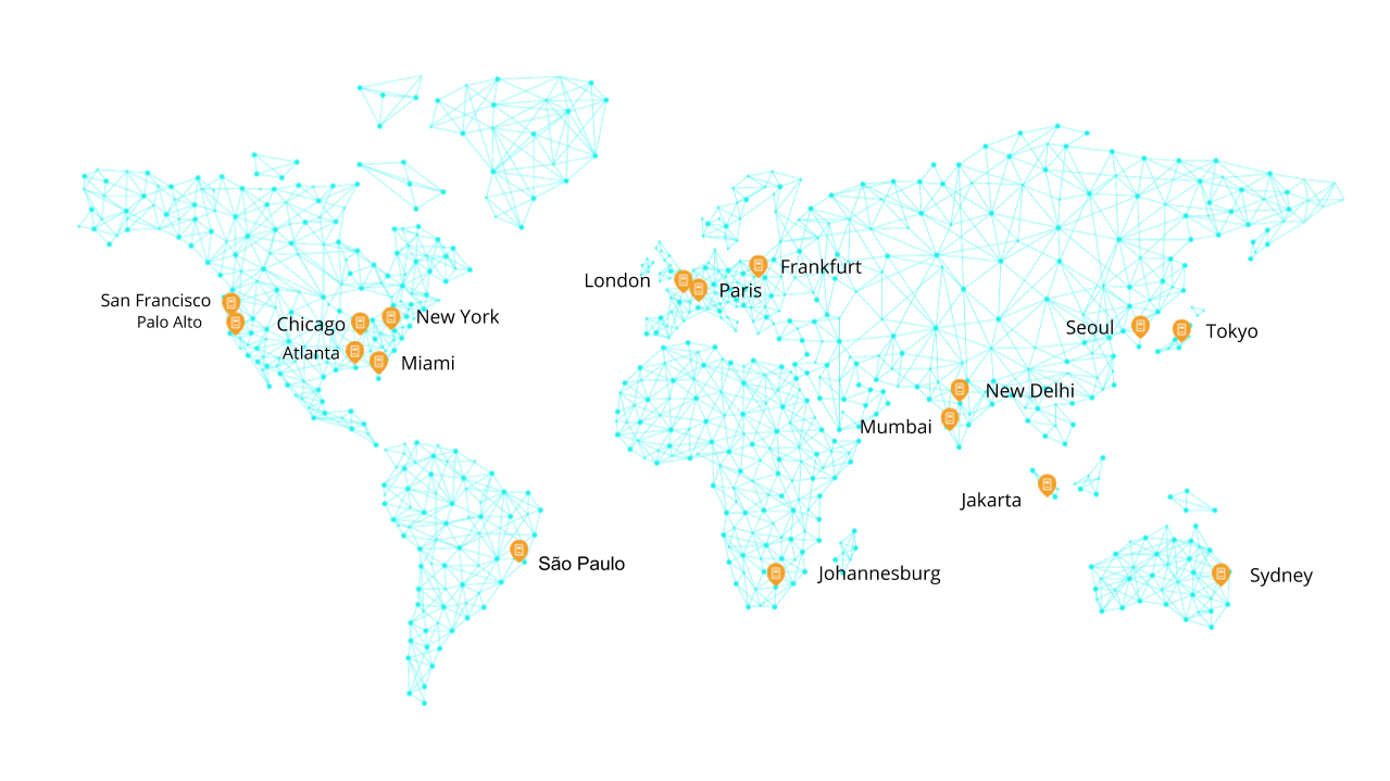 Global Device Infrastructure: Test and monitor where your users are with real local devices (not simulators or emulators) deployed in 17 locations worldwide. No SDK, jailbreaking, code instrumentation, or local team support required.
