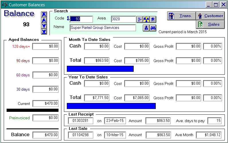 Acumen Software - Customer Balances