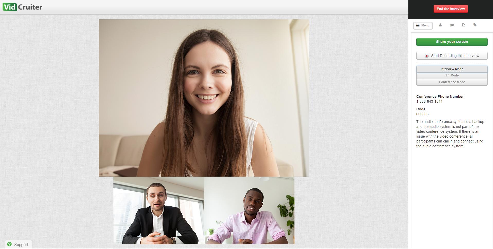 VidCruiter Software - Live video interviewing