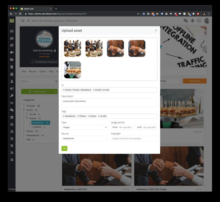 idloom-wall upload asset screenshot
