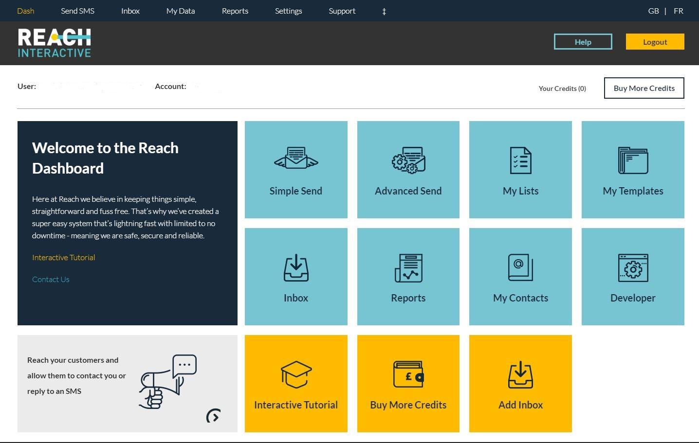Reach Interactive dashboard screenshot