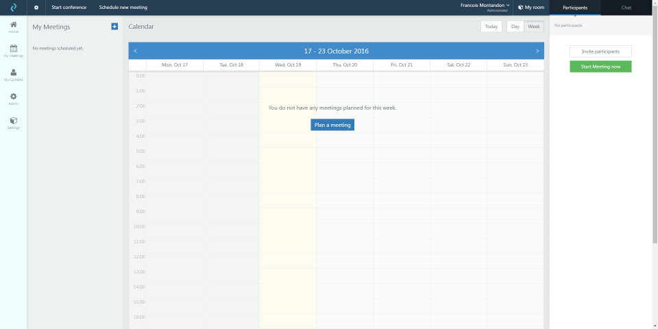 Organize meetings & conferences using the PeekTime Scheduler