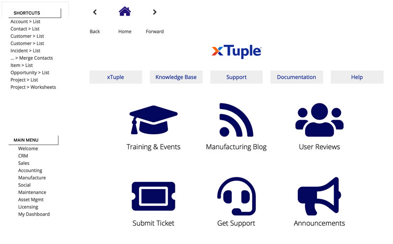 xTuple Software - xTuple Application Overview