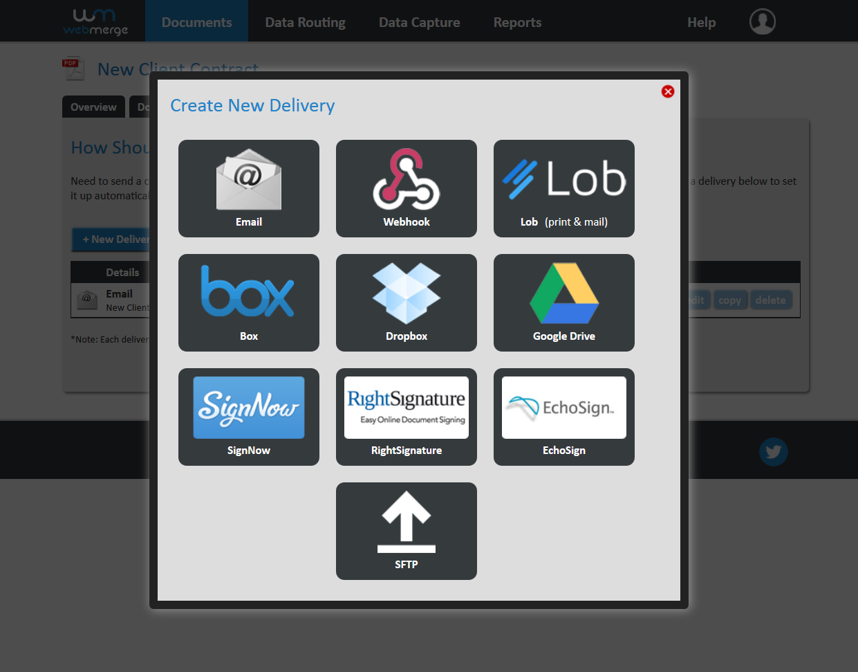 Formstack Documents Flexible delivery methods