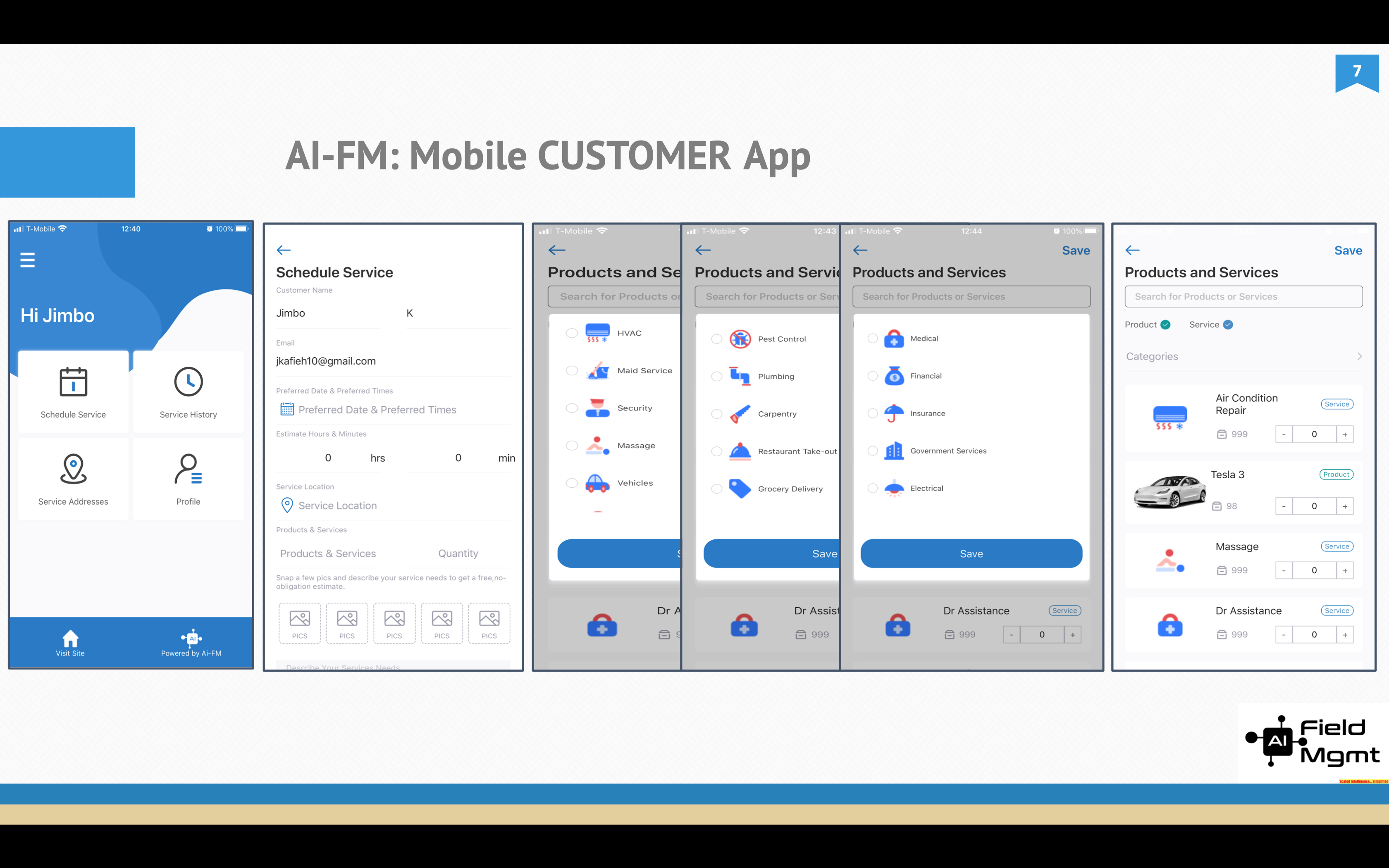 AI Field Management Software - Customer App for YOUR Customers