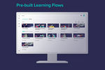 Learningbank screenshot: A Learning Platform and LMS doesn't always deliver pre-built learning for you. Learningbank does! Get started right away with learning flows built by experts. can be tailored to your company.